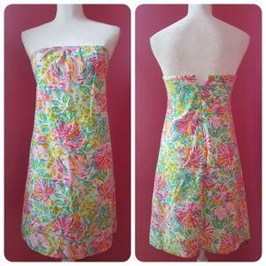 Lilly Pulitzer Silk & Cotton Strapless Mini Dress